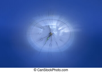 Time travel - Clock In Motion Blur