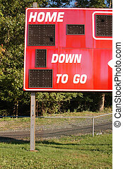 hometown field - score board on home town sports field