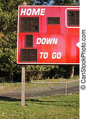 hometown field - score board on home town sports field