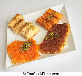 Ramadan pastries 1 - Traditional sweet pastry and cheese...