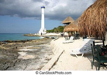 lighthouse on Cozumel