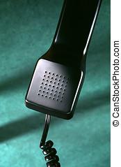 phone receiver - close up of phone receiver