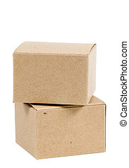 Isolated Boxes - Isolated Cardboard Boxes