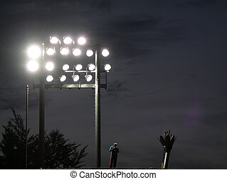 Set of Stadium Light - Pole of stadium lights