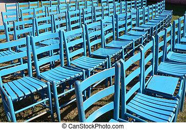藍色, 椅子