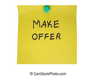 Make offer message.