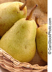 bartlett pears vertical close - tasty seasonal bartlett...