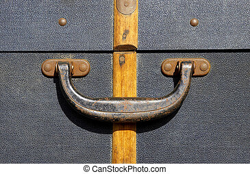 Suitcase handle - Handle on an old suitcase, severn valley...