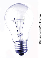 Lightbulb Grunge - Lightbulb isolated on white in grunge...