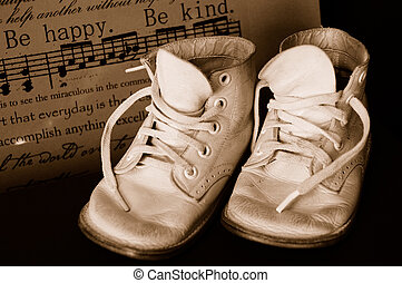 Sepia Vintage Baby Shoes - Sepia tinted vintage baby shoes...