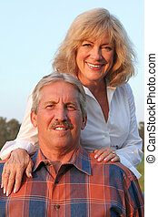 Happily Married - A happily married mature couple enjoying...