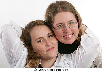 Pretty Sisters 2 - Two attractive college aged sisters...