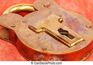 Brass Lock - Antique Brass Lock