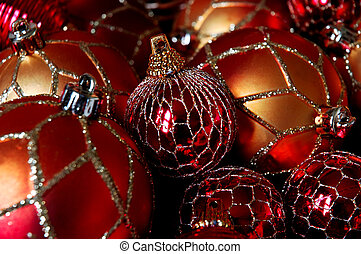 Christmas Tree Ornaments - Christmas balls macro
