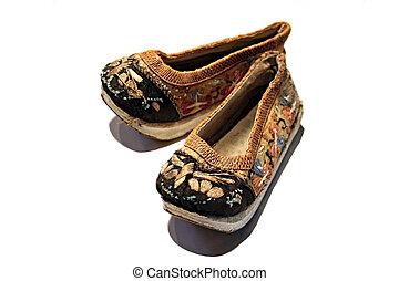 concubine shoes - antique concubine shoes from Japan