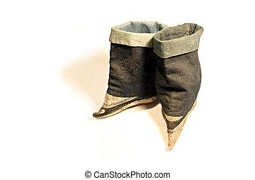 concubine boots - Antique Japanese concubine boots