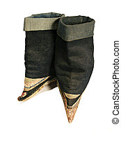 concubine boots - antique concubine shoes from Japan