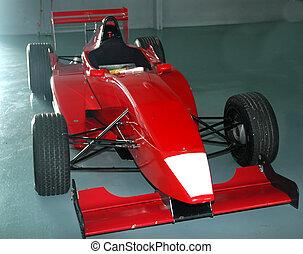 race car in a paddock