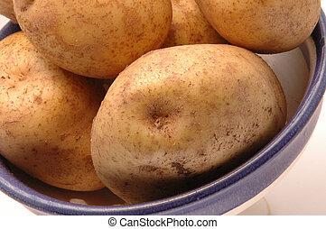potatoes in bowl 3 horizontal - potatoes iron rich close up...
