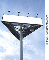 Billboard blank - Billboard for advertisement on blue sky...