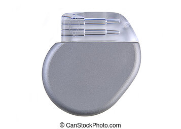 Cardiac Pacemaker - A cardiac pacemaker (~ 8mm thin, volume...