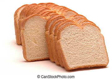 standing out slice - white bread with one standing out of...