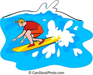surfer - surfing the waves
