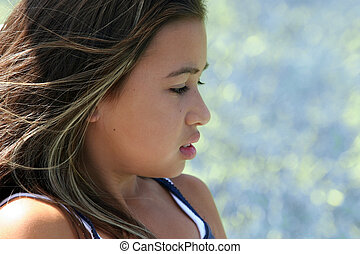 Beautiful girl - Profile of a beautiful girl