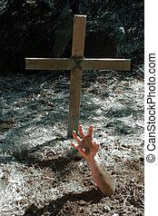 墳墓, 手