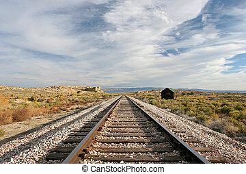 Medio oeste, tren, pistas