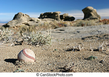 seriously lost baseball, in the middle of nowhere