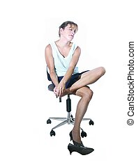 tired and stressed - isolated woman sore and tired and...