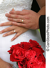 wedding rings - bride and groom and wedding rings