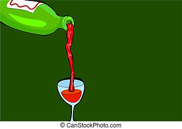 pouring wine - red wine background