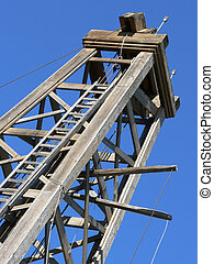 Old Oil Derrick - Dingman Discovery Well (1913). Heritage...