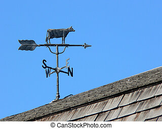 Weather Vane - Cow weather vane Heritage Park, Calgary,...