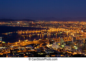 Cape Town view 1 - Veiw at night of Cape Town, South Africa