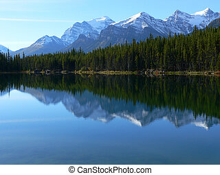 Herbert Lake in Banff National Park, Alberta, Canada