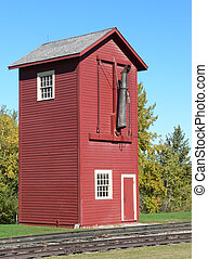 Railroad Water Tower - Old (1902) railroad water tower at...
