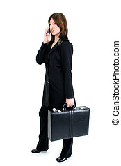 Hispanic Woman Suit - Beautiful business woman with...