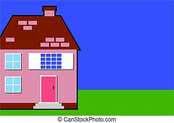 house - with background space