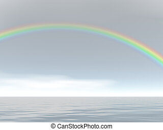 Rainbow Skies - Rainbow over the sea