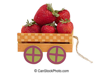 Strawberry Wagon - Strawberries in a Toy Cart