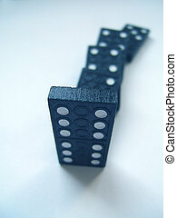 Blue dominoes - Blue ominoes pieces