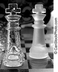 Piezas de ajedrez, vidrio