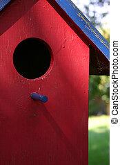 bird house - red bird house
