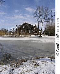 Old Dutch farm house