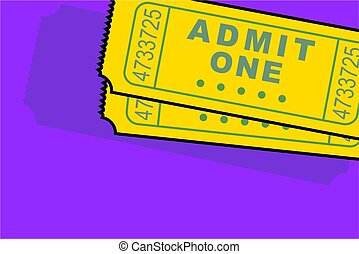 admission ticket - with background space