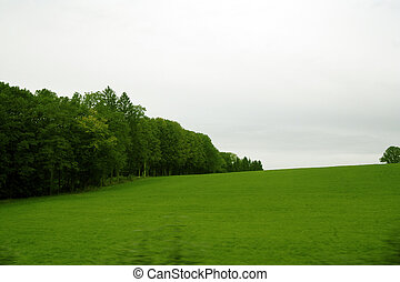 Country side. - Shot of Austrian countryside taken from a...