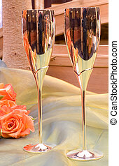Wang Thai #10 - Champagne glasses and roses